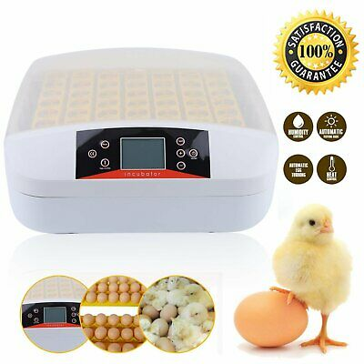 24/56/96 Egg Incubator Fully Automatic Turning Chicken Poultry Eggs Hatcher W2D