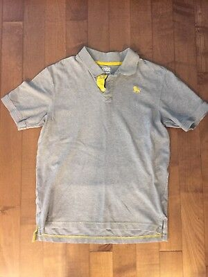 Old Navy Boys 2 Button Gray Polo Shirt Size XL 14/16