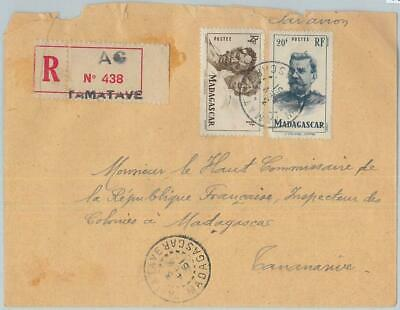 77369 - MADAGASCAR  - POSTAL HISTORY -  Registered COVER from TAMATAVE  1951