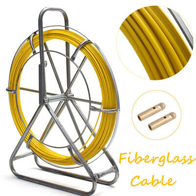 Cable Puller Fiberglass Wire Snake Rod Duct Electric Tape Rodder 6 mm 150 m