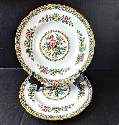 "2 SALAD Plates 8"" Scalloped Ming Rose Coalport EXCELLENT CONDITION"