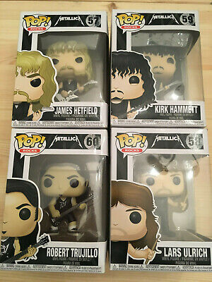 Funko POP Vinyl Rock METALLICA  #58/58/59/60  ULRICH-HAMMET-HETFIELD& C. NEW !!!