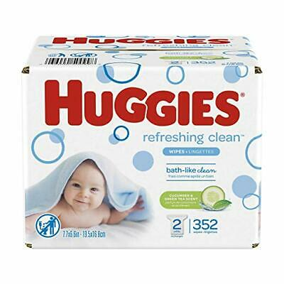 HUGGIES Refreshing Clean Scented Baby Wipes, Hypoallergenic