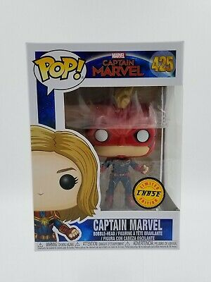 Funko - POP Marvel - Masked Captain Marvel #425 LIMITED CHASE EDITION
