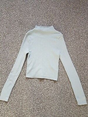 New Look 915 generation girls pale blue ribbed jumper age 9
