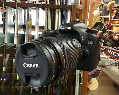 Canon EOS 70D 20.2MP Digital SLR Camera w/EFS 18-135mm Image Stabilizer Lens