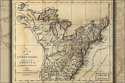 Poster, Many Sizes; Map Of The United States Of America 1783 P3