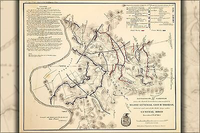 Poster, Many Sizes; Map Of Battle Fields Nashville Tennessee Dec 1864