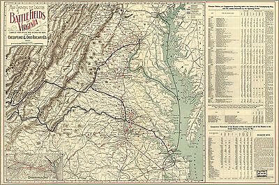 Poster, Many Sizes; Map Of Battle Fields Of Virginia 1902