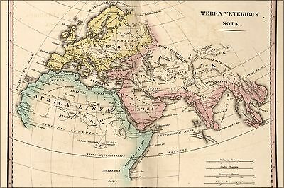 Poster, Many Sizes; Map Of Ancient Europe Asia Africa 1826
