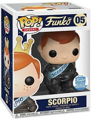 Funko Pop FREDDY FUNKO ZODIAC SCORPIO #05 LIMITED EDITION w/ SHIPPING BOX Mint!