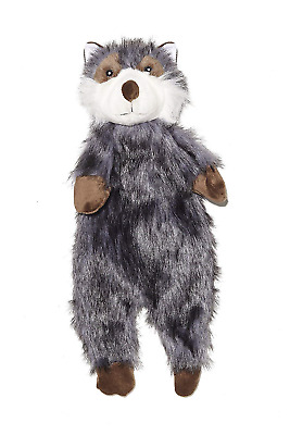 Pistachio Pet Plush Dog Toy - Unstuffed Raccoon With Squeaker. Large