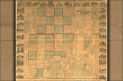 Poster, Many Sizes; Map Of Macomb & St. Clair Cos. Michigan 1859