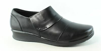 26ed9d0f9234 Clarks Womens Hope Race Black Leather Loafers Size 9 (253023)
