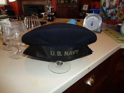 Pre WWII US Navy Tally Hat  No size