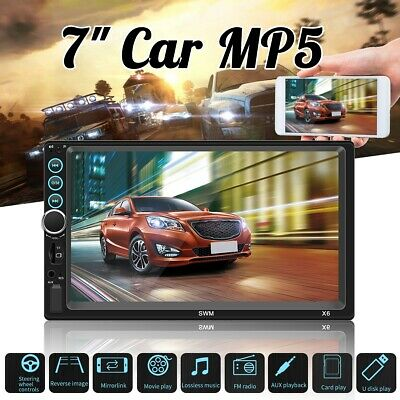 """7"""" 2DIN Car MP5 MP3 Player Touch Screen bluetooth FM Radio Stereo HD AUX"""
