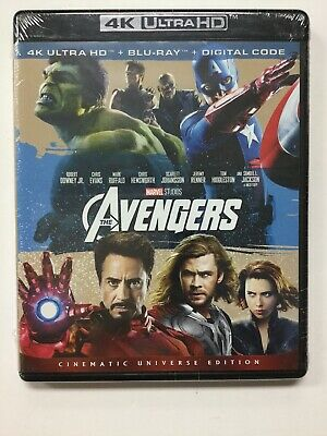 The Avengers, 4K Ultra HD, Blu-Ray, & Digital, Brand New Sealed!!!
