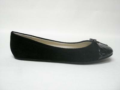 Steve Madden Tipie Black Leather Suede Ballet Flats Sz 7.5M Nib Chic & Sexy