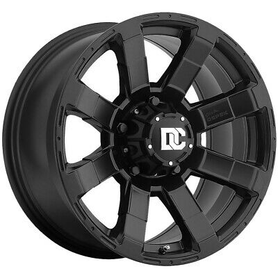 4 Wheels 18 Inch Matte Black Blue Flare Rims Fits Audi All Road 2013