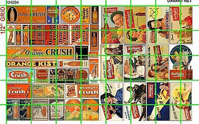 N047 DAVE/'S DECALS N SCALE ASST/'D GHOST SIGN ASSORTED SODA THEATER MIXED HOTELS