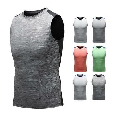 Men's Compression Workout Vests Gym Tank Tops Moisture Wicking Sportswear Tee