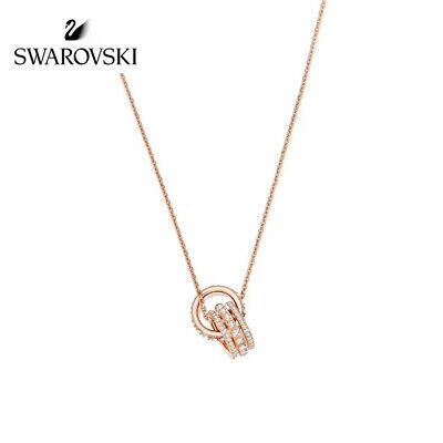 84568cb0ac367 MICHAEL KORS ROSE Gold-tone Cylinder Crystal Pendant Necklace ...