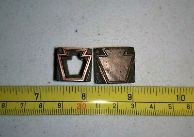 Vintage Letterpress Printing Block Keystone Lot ALL Metal Pennsylvania Symbol?