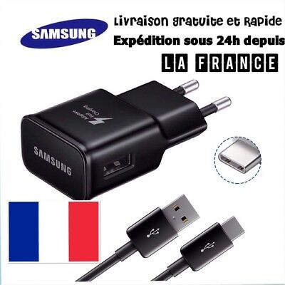 Chargeur RAPIDE Cable TYPE-C SAMSUNG ORIGINAL Galaxy S8 S9 Note 8 A5 2017