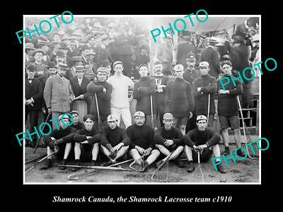OLD 8x6 HISTORIC PHOTO OF SHAMROCK CANADA, THE SHAMROCK LACROSSE TEAM c1910