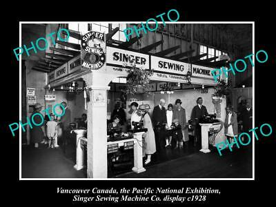8x6 HISTORIC PHOTO OF CANADA INDUSTY VANCOUVER SINGER SEWING MACHINES c1928