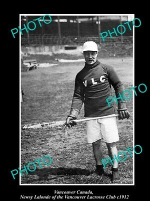 OLD 8x6 HISTORIC PHOTO OF VANCOUVER CANADA, THE VLC LACROSSE CLUB PLAY c1912