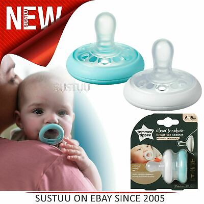 Tommee Tippee Closer to Nature Breast Like Soothers 6-18m 2Pk│Orthodontic