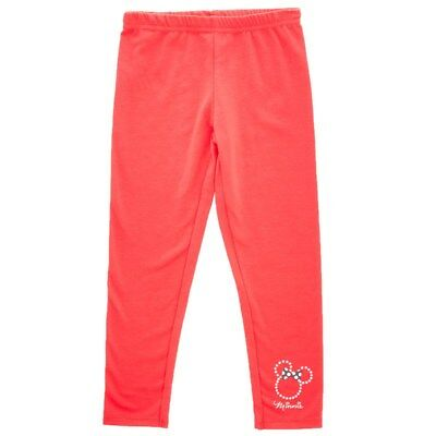 NWT Disney Minnie Mouse Face Kid Girl Red Glitter Everyday Leggings Pants 5 6