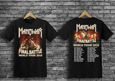 RARE ITEMS hot Manowar metal final battle world tour 2019 T-SHIRT S-5XL