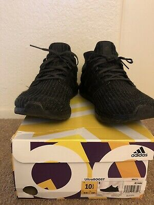 low priced aabb4 b19da Adidas Ultra Boost Ultraboost 4.0 Triple All Black BB6171 Size 10.5