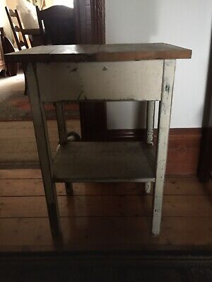 Vintage Rustic Small Wooden Occasional Or Bedside Table