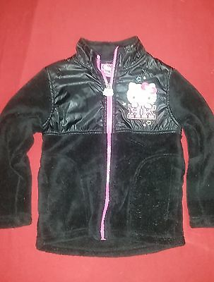 Hello Kitty Black Soft Polyster Coat Jacket size 4T