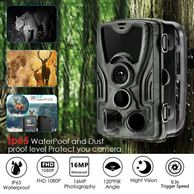 16MP Hunting Trail Camera HD 1080P Wildlife Scouting Cam Night Vision IP65 ACE