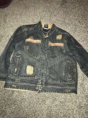 Next Denim Jacket Age 2-3 Years Zip Fastening Fleece Lined Great