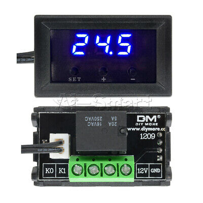12V -50~110°C W1209 Thermostat Digital Temperature Controller Sensor Switch+Case
