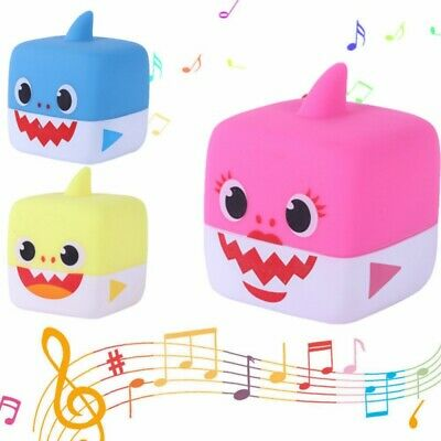 Baby Kids Shark Shaped Stuffed Singing Rubber Play Toy Music Doll Pillow Gift US