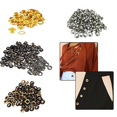 5mm 100pcs Eyelets with Washers Iron for Craft Making Repair Clothing Belts Bags