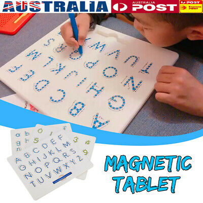 AU Magnetic Tablet Magnet Drawing Lowercase Alphabet Letter Board Learning Toy