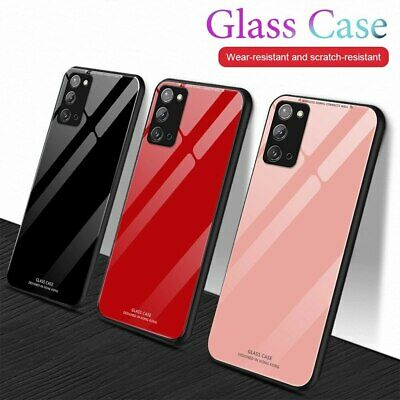 For Samsung Note 10 Plus A70 A50 A40 A20E A10 Fashion Tempered Glass Phone Case