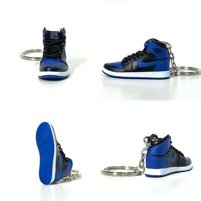 the latest 874fb 49327 madxo   3D mini sneaker keychain Air Jordan 1 Retro ROYAL BLUE 1 6 SCALE