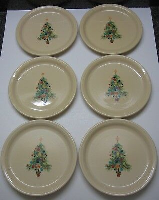 Fiesta Christmas Tree 9 Inch Plates Lot 6 New Made In Usa