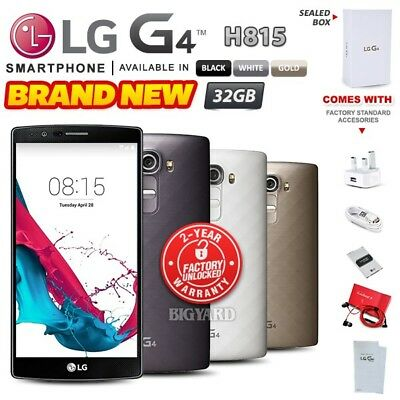 New & Sealed Factory Unlocked LG G4 H815 Black White Gold 32GB Android Phone