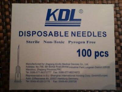 100 Disposable Hypodermic Needles ALL SIZES!!!