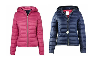 NEW Fab NEXT Ladies Silver Beige Packaway Padded Puffa Duck DownJacket £50 6-20
