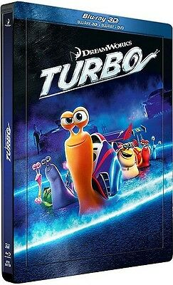 Combo Blu-Ray 3d + Blu-Ray + Dvd [Boîtier Steelbook] TURBO 3D - NEUF cellophané